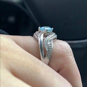 Sky Blue Topaz ring